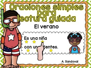 Simple Sentences for Guided Reading in Spanish-SUMMER lect