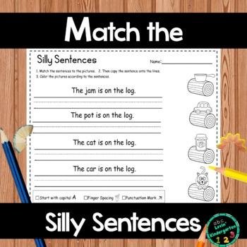 Simple Sentences for Kindergarten and Grade 1
