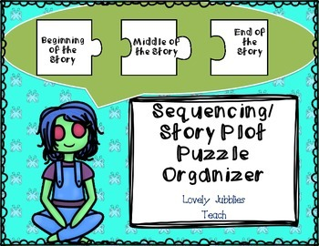 Simple Sequencing or Story Plot Puzzle Themed Organizer