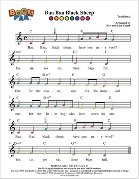 Boomwhackers Sheet Music - Simple Series #2 – Boomwhacker® Pak (10 Songs)