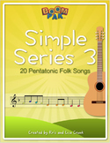 Boomwhackers® Sheet Music - Simple Series 3 – 20 Pentatonic Folk Songs