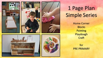 Simple Series of 1 page plans for PrePrimary