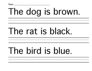 Simple Shadow Sentances