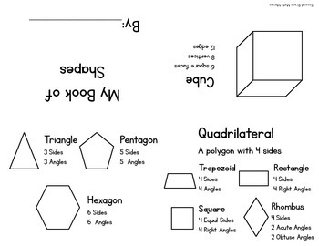Simple Shape Book  2.G.A.1