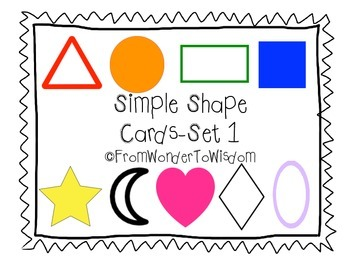 Simple Shape Cards-Set 1