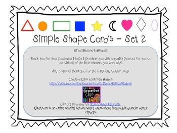 Simple Shape Cards-Set 2