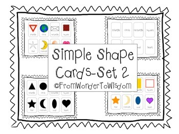 Simple Shape Cards-Set 2