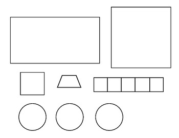 Simple Shape Fire Truck Sracmbled Sentence Craft