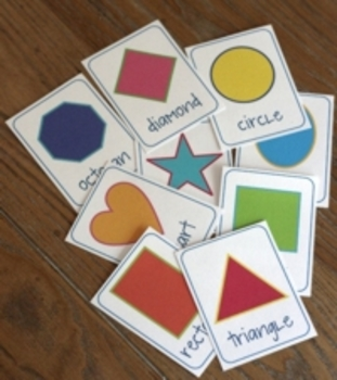Simple Shape Flash Cards