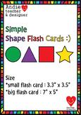 Shape Flash Cards - 10 Basic Shape ; ESL EFL kindergarten flash cards