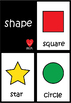 Shape Flash Cards - 10 Basic Shape ; ESL EFL kindergarten flash cards