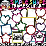 Simple Shape Frames Clipart {Blank Signs Clipart}