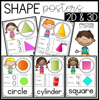 Simple Shape Posters {2D and 3D}