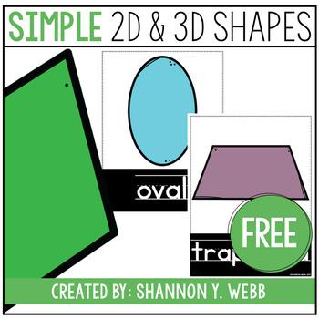 Simple Shape Posters FREEBIE
