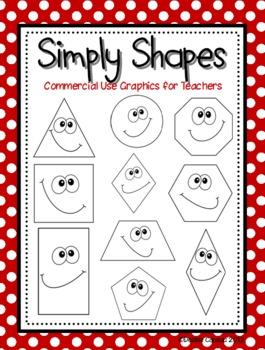 Simple Shapes Digital Clip Art