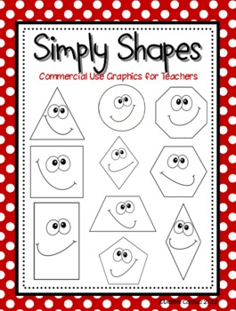 Simple Shapes Digital Clip Art