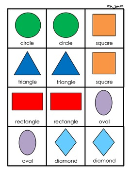 Simple Shapes Memory Game