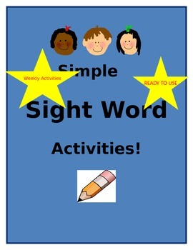 Simple Sight Word Activity Templates