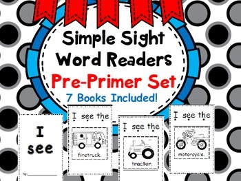 Simple Sight Word Readers (Cut and Glue) Set 1 Dolch Pre-Primmer