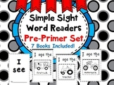 Simple Sight Word Readers (Cut and Glue) Dolch Pre-Primmer
