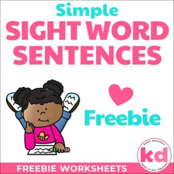 Simple Sight Word Sentences FREEBIE