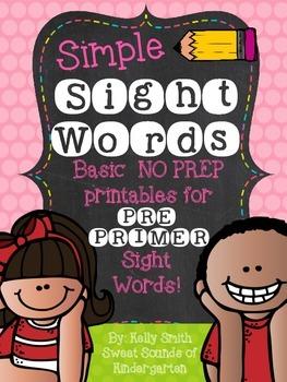 Sight Words {Pre-Primer Printables}