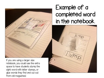 Simple Sight Words Interactive Notebook PRIMER