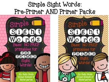 Sight Words {Pre-Primer & Primer Bundle}