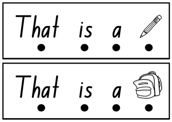 Simple Sight word fluency sentences for emerging readers