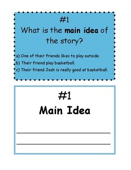 Simple, Silly Reader's Theater, Main Idea & Supporting Details + BONUS ACTIVITY