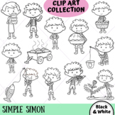 Simple Simon Clip Art Collection (BLACK AND WHITE ONLY)