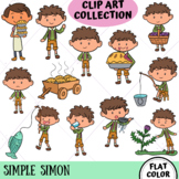 Simple Simon Clip Art Collection (FLAT COLOR ONLY)