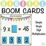 Simple Single Digit Multiplication - Boom Cards™