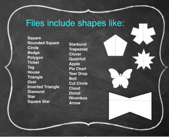 Simple Single Flap Shape Templates Foldables, Interactive Notebooks & Lap Books