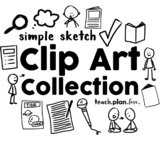Simple Sketch Clip Art Collection