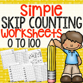 Simple Skip Counting to 100 Worksheets