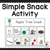 Simple Snack Activity with Visual Directions Apple Tree