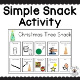 Simple Snack Activity with Visual Directions Christmas Tree