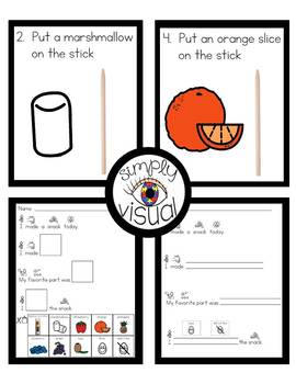 Simple Snack Activity with Visual Directions Rainbow on a Stick