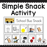 Simple Snack Activity with Visual Directions School Bus