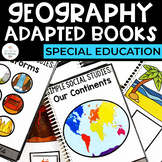 Geography Adapted Books for Special Education