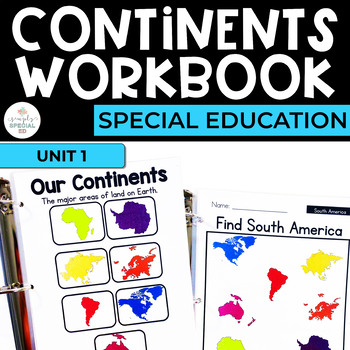 Simple Social Studies: Geography Continents Workbook