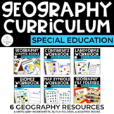 Geography Curriculum Bundle for Special Education