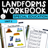 Landforms: Geography Workbook for Special Ed