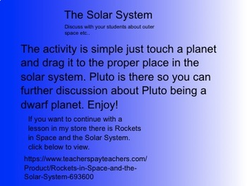 Simple Solar System Activity For The Young Student