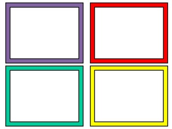 Simple Solids Word Wall Cards: Editable, Classroom Decor, Sight Words