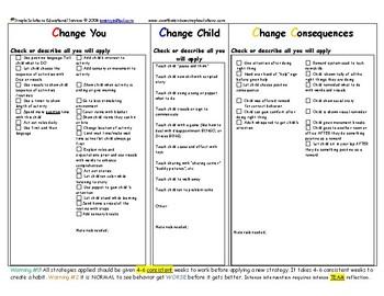 Simple Solutions Challenging Behavior Worksheet Steps 2-5