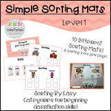 Simple Sorting Mats Level 1 for Special Education, Autism,