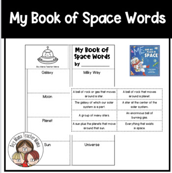 Simple Space Words Book