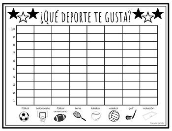 Simple Spanish Conversation Activities - Los gráficos
